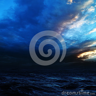 Free Night Storm On The Sea. Royalty Free Stock Image - 26023846