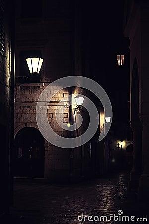 Free Night Street Stock Photography - 58530192