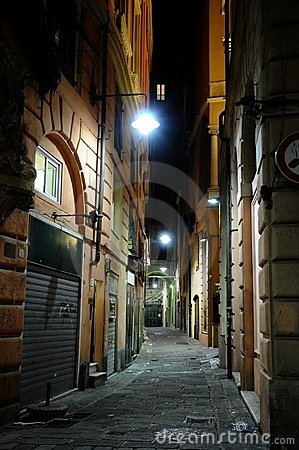 Night street in Genova