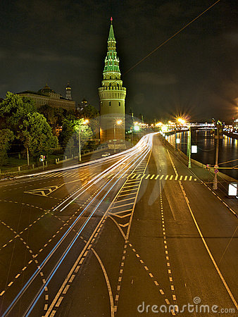 Night street in Moscow/Russia