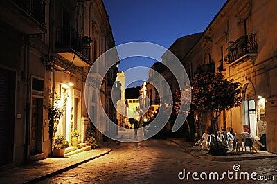 Night street, Sicily