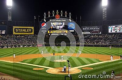 Night time baseball Editorial Photography