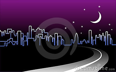 Night-time City Skyline