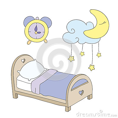 Night time clip art set