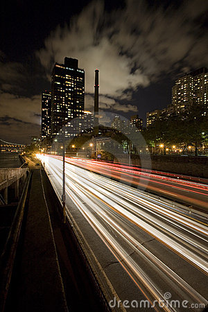 Night time highway