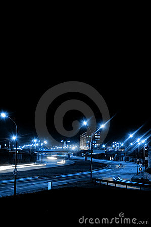 Free Night Traffic Royalty Free Stock Image - 1416116