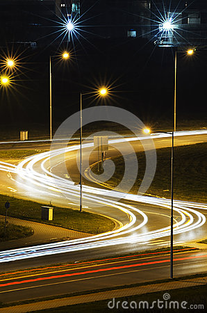 Free Night Traffic Stock Photography - 35772472