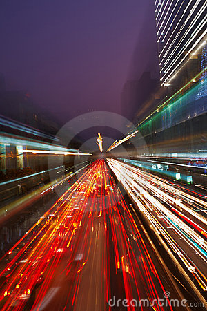 Free Night Traffic In The City Royalty Free Stock Photos - 12458868