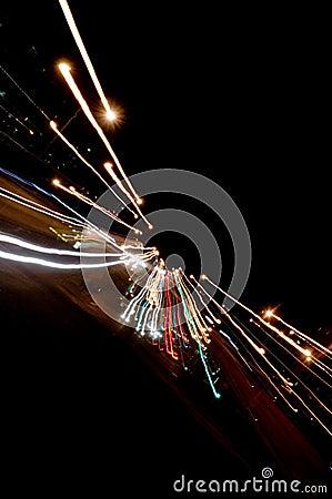 Free Night Traffic Lights Stock Photo - 1416120