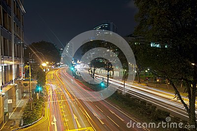 Night Traffic in Singapore