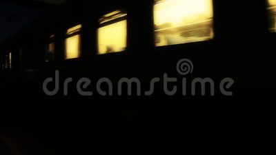 Night train passes by. Hd stock footage