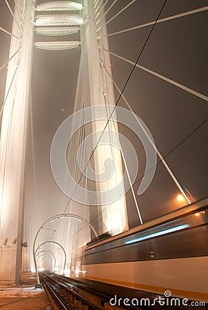 Free Night Tram Royalty Free Stock Image - 103357576