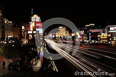Night in Vegas Editorial Photo