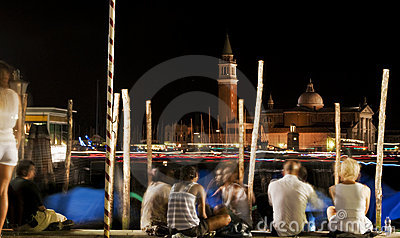 Night in Venice Editorial Photo