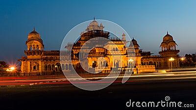 Night view Albert Hall museum Jaipur