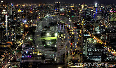Night View Of Bangkok, Thailand Stock Images - Image: 23793724