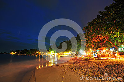 Night view of beach