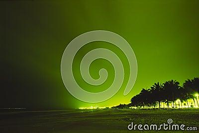 Night view of beach city