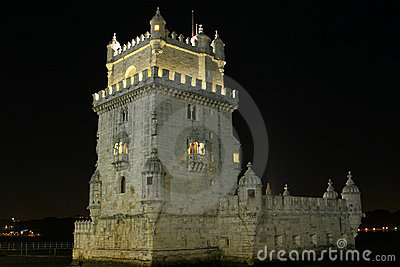 Night view belem tower