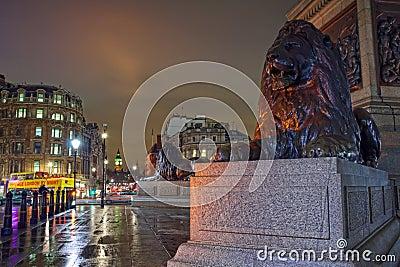 Night view on Big Ben from Trafalgar square