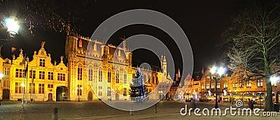 Night view of Brugge, Belgium