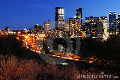 Night View of Calgary