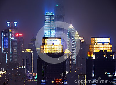 The night view of Chongqing Editorial Photo