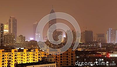 Night view of city