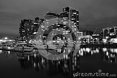 Night view of Docklands