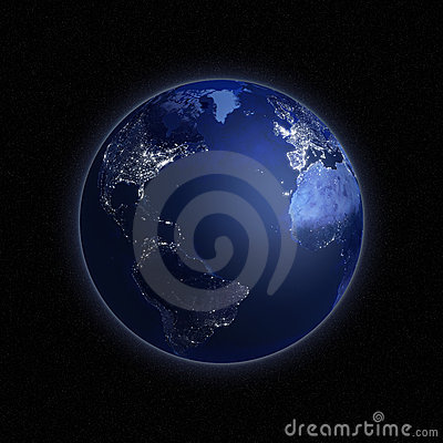 Night view of the Earth