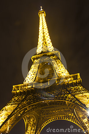 Night view of a Eiffel tower Editorial Photo
