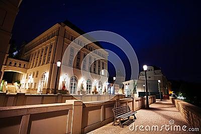 Night view of Judiciary City, Plateau St. Espirit