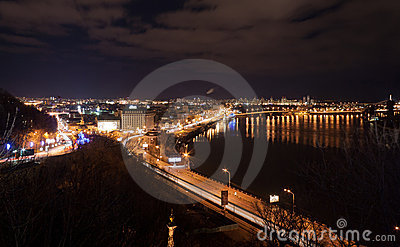 Night view of Kyiv