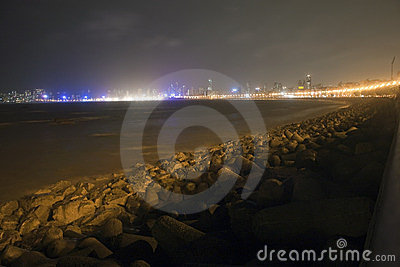 Night view of Marine Drive