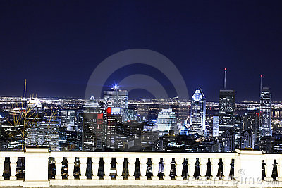 Night view on Montreal
