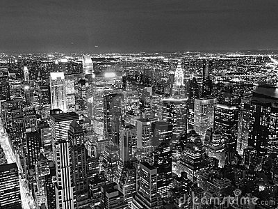 Night View of New York City