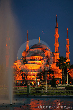 Free Night View Of Sultanahmet (Blue) Mosque (Istanbul) Stock Photo - 11176450