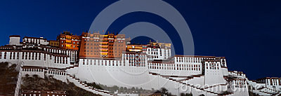 Night view of Potala Palace in Lhasa, Tibet