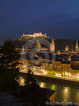 Night view of Salzburg
