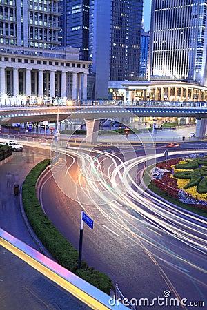 Night view of Shanghai City Beautiful