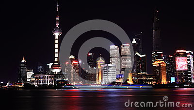 Night view  of shanghai Editorial Stock Image