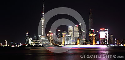 Night view  of shanghai Editorial Photography