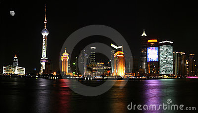 Night view of Shanghai Pudong