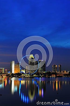 Night view of singapore city