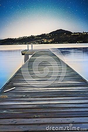 Night View on Still Lake