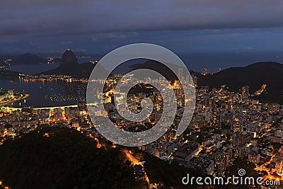 Night view of Sugarloaf Rio de Janeiro