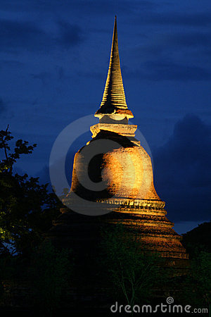 Night view of Sukhothai