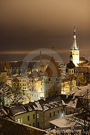 Night view of Tallinn