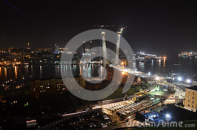 Night view of Vladivostok