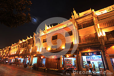 Night view in zhenyuan ancient town in guizhou china Editorial Stock Photo